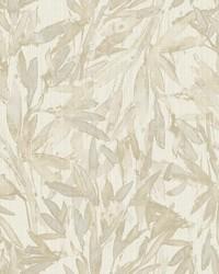 Rainforest Leaves Wallpaper Beige by