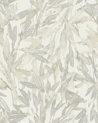 Rainforest Leaves Wallpaper Cream Grey by