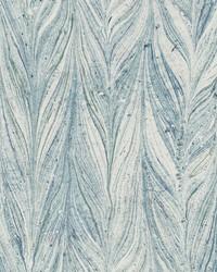 Ebru Marble Wallpaper Bright Blue by