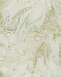 Oil Marble Wallpaper Green Whisper Lt Gold by