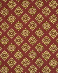 Floral Diamond Fabric  Menara Carmine
