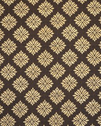 Brown Floral Diamond Fabric  Menara Chocolate