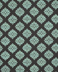 Blue Floral Diamond Fabric  Menara Turquoise