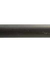4ft 2inD Wood Traverse Rod Onyx 37 by