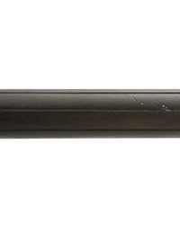 4ft 2inD Reeded Wood Traverse Rod Onyx 37 by