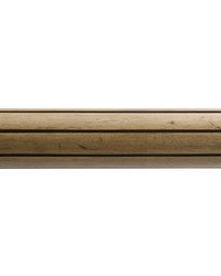 4ft 2inD Reeded Wood Traverse Rod Tinted Birch 39 by