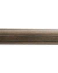 4ft 2inD Reeded Wood Traverse Rod Driftwood 38 by