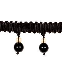 0370L GLASS BEADED F S0940 LICORICE by  Stroheim And Romann Trim