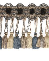 0621l Tassel Fringe S0539 Smoky Blue by  Stroheim And Romann Trim