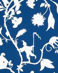 Beige Oriental Fabric  1090e Cathay Pastora S0510 Blue White