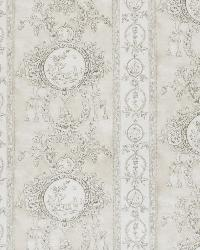 Grey French Country Toile Fabric  Monique Peastone