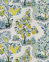 Blue Fruit Fabric  Citrus Garden Pool
