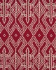 Schumacher Fabric ASAKA IKAT RED