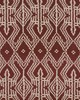 Schumacher Fabric ASAKA IKAT RAISIN