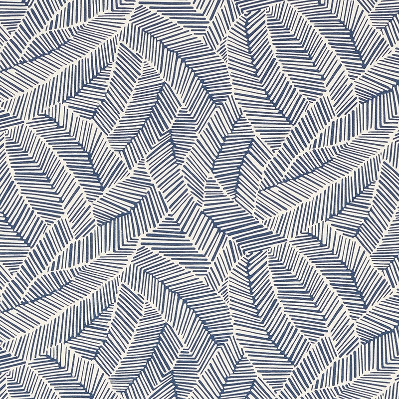 Schumacher Fabric Abstract Leaf Navy Interiordecorating Com