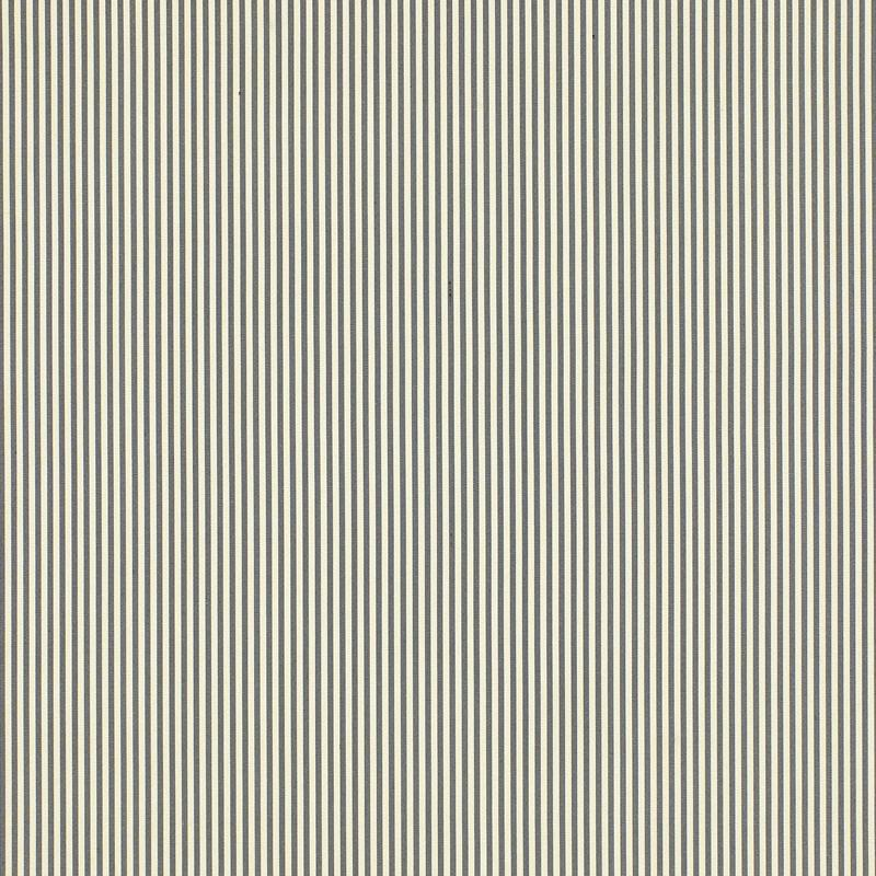 Schumacher Fabric Charee Silk Stripe Black White