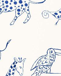 Blue Jungle Safari Fabric  Jungle Jubilee Blueberry