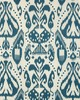 Schumacher Fabric KIVA EMBROIDERED IKAT LAPIS