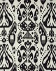 Schumacher Fabric KIVA EMBROIDERED IKAT RAVEN