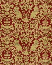 Red Jungle Safari Fabric  Iron Lions 26705 916 Venetian Red