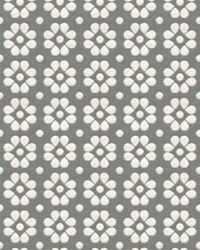 Grey Small Print Floral Fabric  Kahlo 33780 11 Pewter