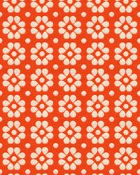 Orange Small Print Floral Fabric  Kahlo 33780 12 Mandarin
