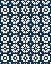 Blue Small Print Floral Fabric  Kahlo 33780 5 Ink