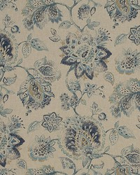 Blue Large Print Floral Fabric  Asti 516