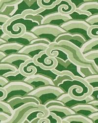 Green Oriental Fabric  Decowaves Jade