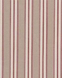 Laura Ashley Garden Room Ticking LA1126 91 Crimson Fabric