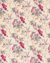Medium Print Floral Fabric  Morning Glories LA1186 56 Colonial