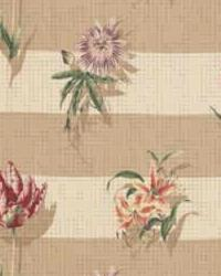 Beige Large Print Floral Fabric  Fairview LA1289 45 Antique