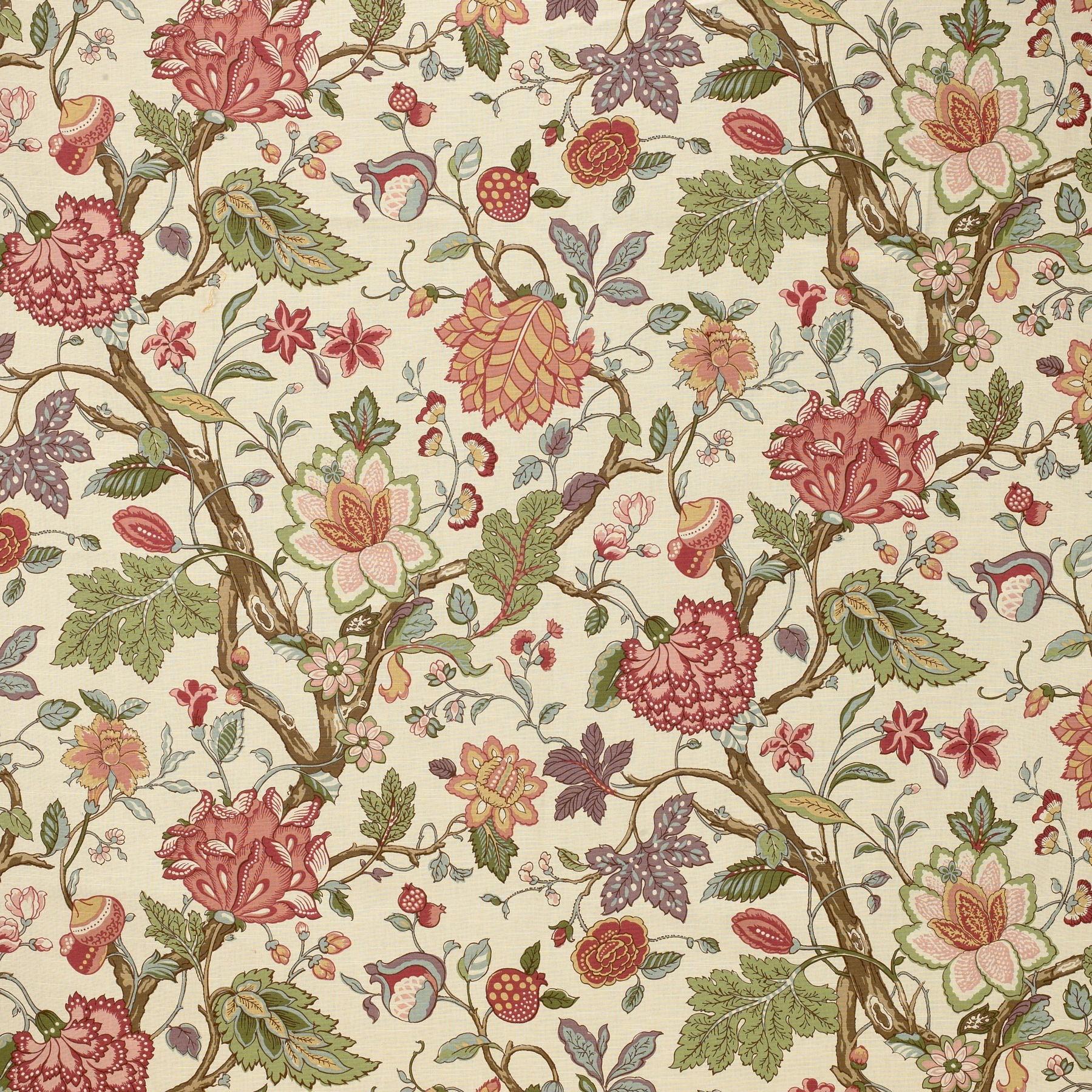Laura Ashley Fabrics SOMERFIELD LA1324 303 BAYBERRY