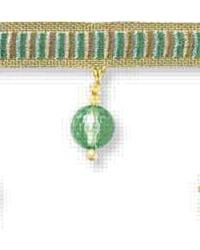 Beaded Fleurette T30257 35 Robins Egg Beaded Trim by