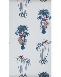 JUNGLE PALMS W0101/01 CAC BLUE by