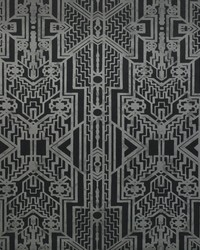 Brandt Geometric Charcoal by  Ralph Lauren Wallpaper