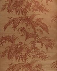Palm Garden Sisal Cinnabar On Sienna by