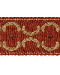 Brown Fabric Trim Border  01872 Spice
