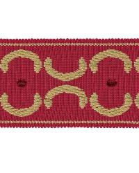 Beige Fabric Trim Border  01872 Red