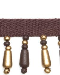 Brown Beaded Trim  01967 Gilded Chocolate