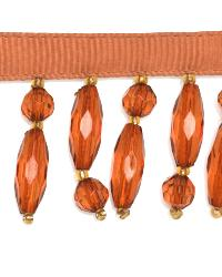 Orange Beaded Trim  01974 Apricot