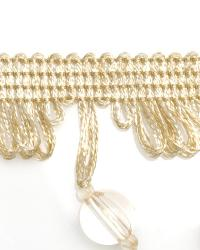White Beaded Trim  01979 Natural