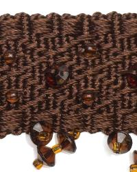 Brown Beaded Trim  01968 Chocolate