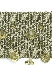 Green Beaded Trim  01968 Sage