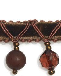 Brown Beaded Trim  01961 Chocolate