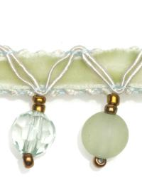 Green Beaded Trim  01961 Mist