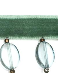 Green Beaded Trim  01960 Aquamarine