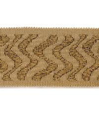 Brown Fabric Trim Border  02024 Birch