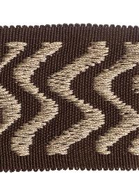 Brown Fabric Trim Border  02024 Coffee