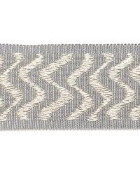 Grey Fabric Trim Border  02024 Silver
